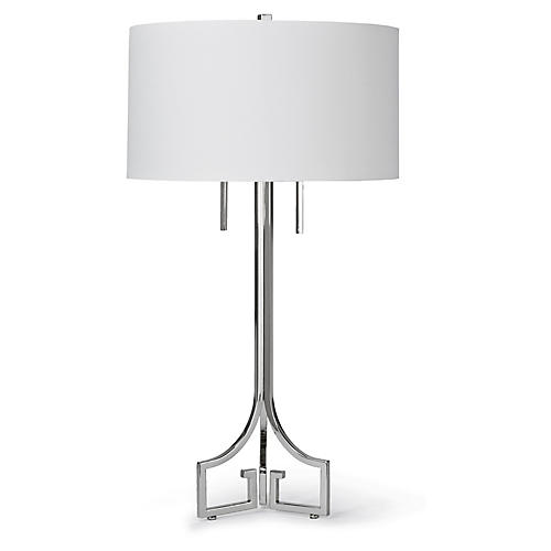 Le Chic Table Lamp, Nickel