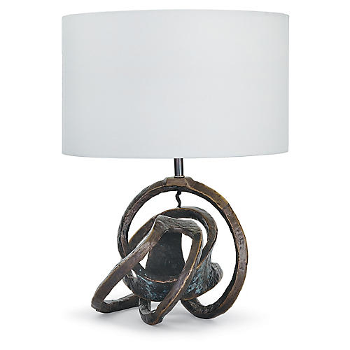Knot Table Lamp, Bronze