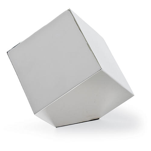 "6"" Closed Standing Cube, Nickel"