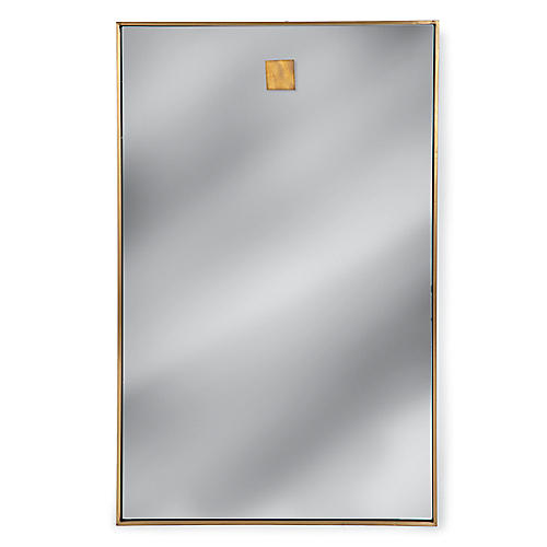 Rectangle Wall Mirror, Brass