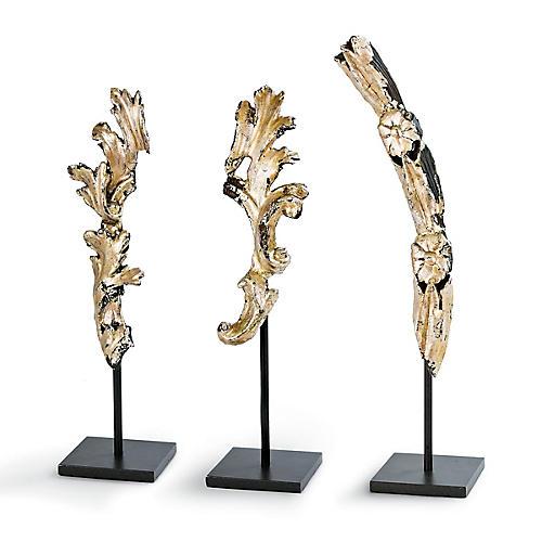Asst. of 3 Gilded Artifacts, Gold