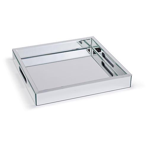 Mirrored Tray, Nickel