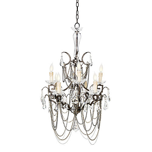 Butterfly Chandelier, Antiqued Iron