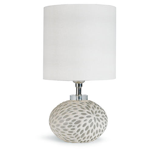 Art Glass Table Lamp, White