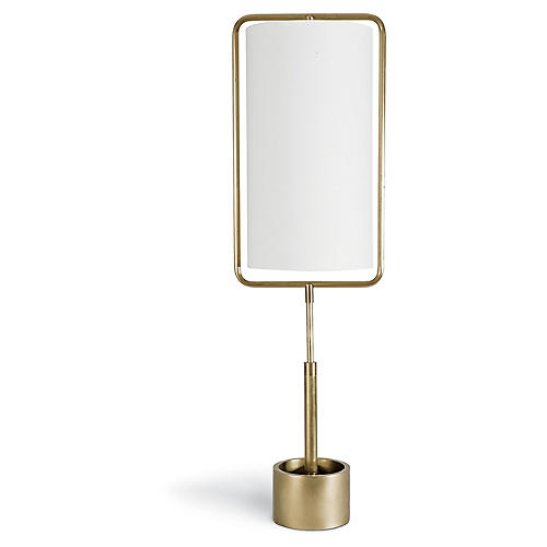 Geo Rectangle Table Lamp, Gold