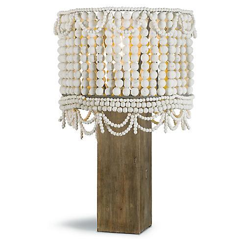 Malibu Table Lamp, White
