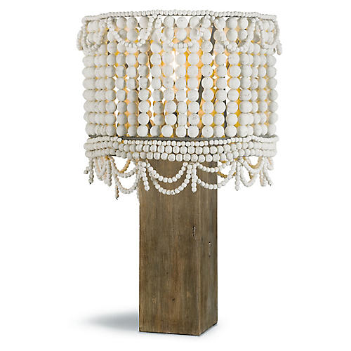 Malibu Table Lamp, White