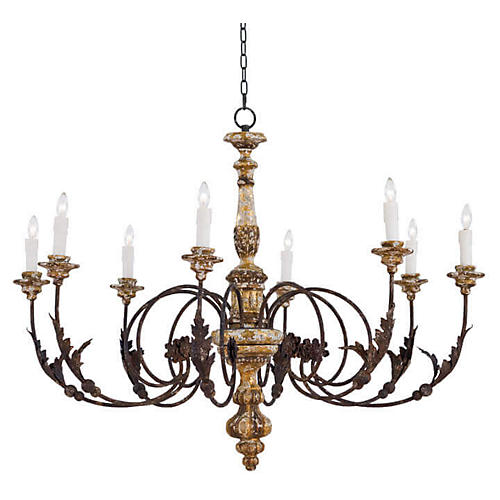 Florence Chandelier, Weathered Black