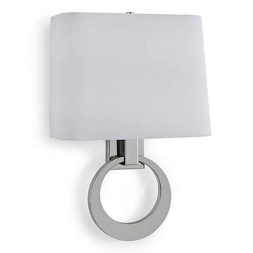 Engage 2-Light Sconce, Polished Nickel