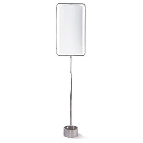 Geo Floor Lamp, Polished Nickel