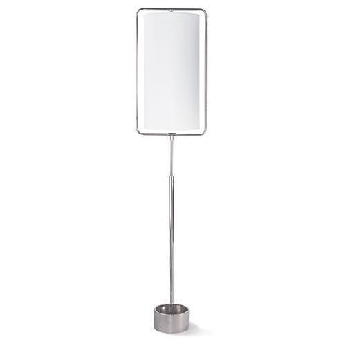 Geo Floor Lamp, Polished Nickel