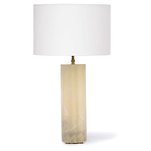 Isadora Alabaster Table Lamp, Natural