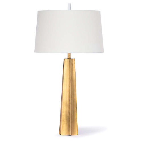 Celine Table Lamp, Gold Leaf