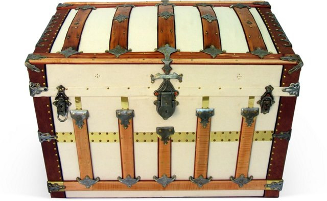 Secor Arch-Top Steamer Trunk, C. 1890