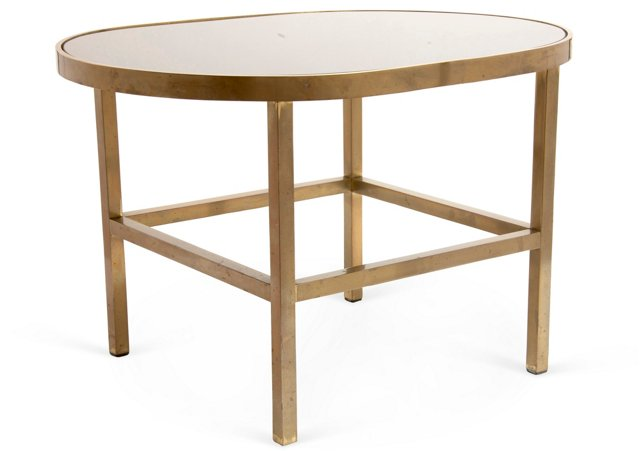 Midcentury Oval Side Table