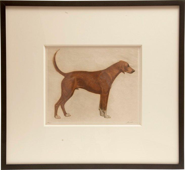 Dog Etching by Bert Cobb I