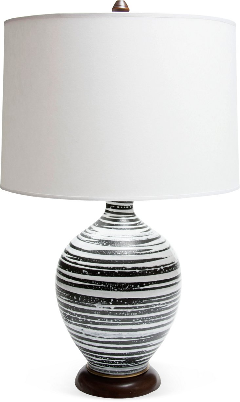 1950s Swirl Ceramic Lamp