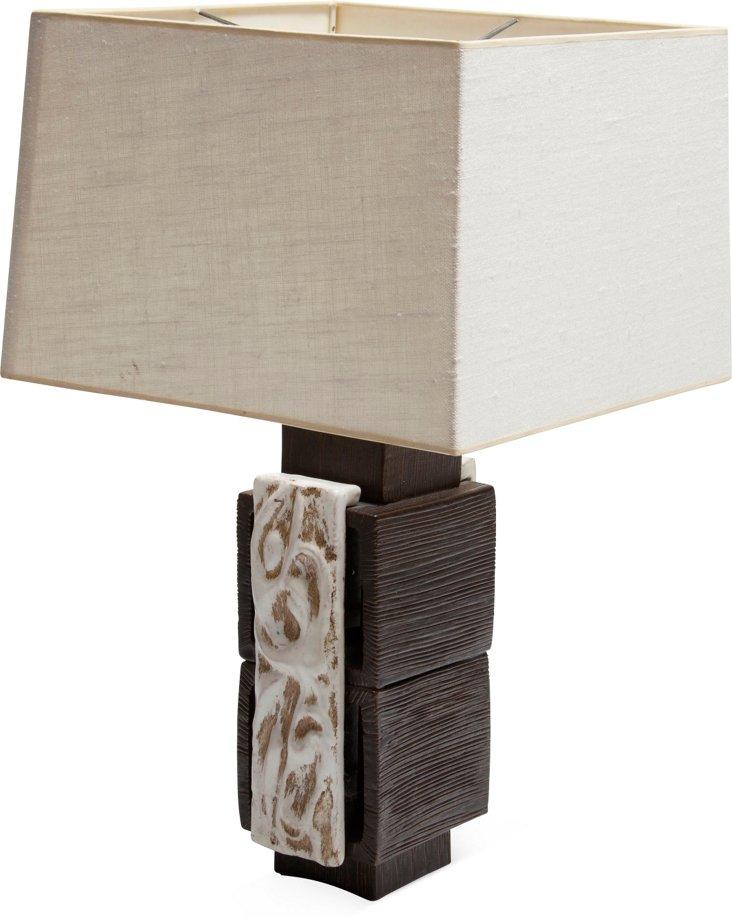 Modern Cubist Ceramic Lamp