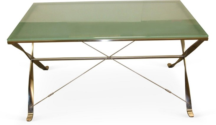 Ward Bennett Steel X Leg Desk
