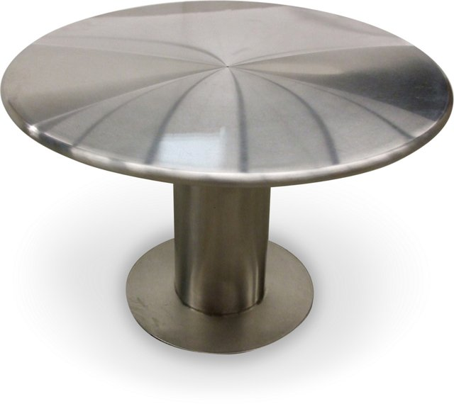 Round Steel Bull Nose-Edge Table