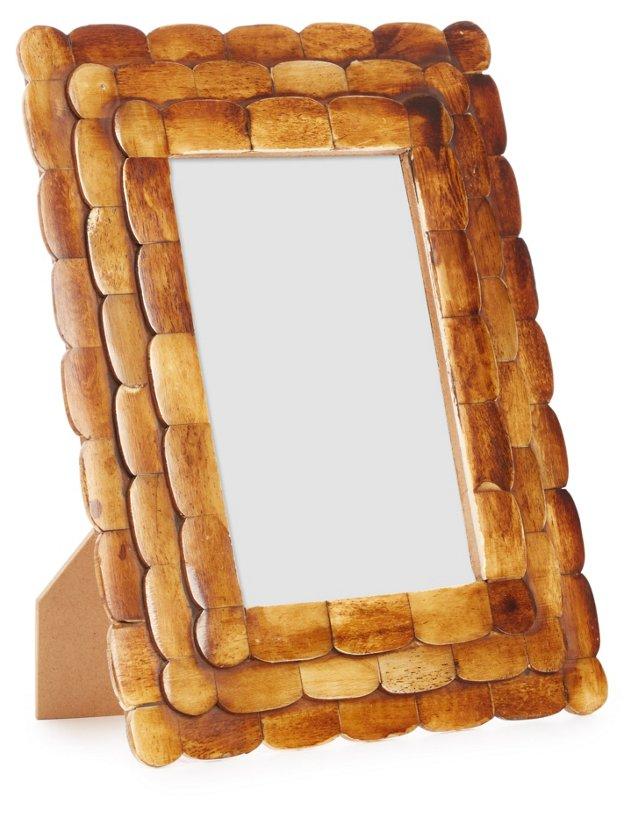 Bone Shingle Frame, 4x6, Brown