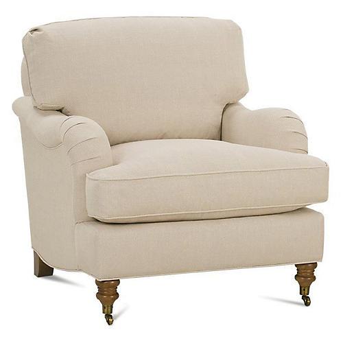 Brooke Club Chair, Natural