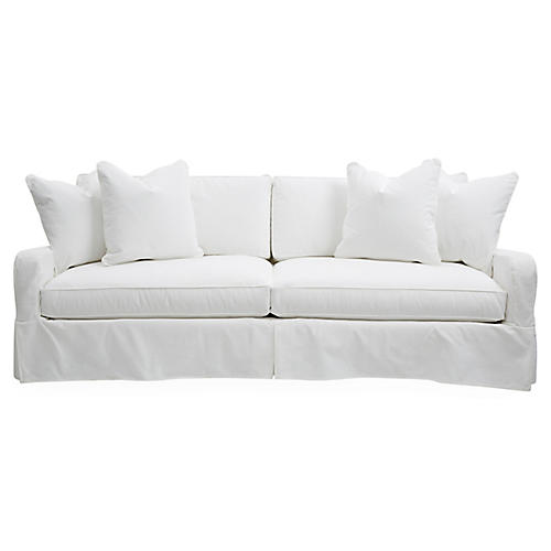 "Havens 92"" Slipcovered Sofa, Chalk"