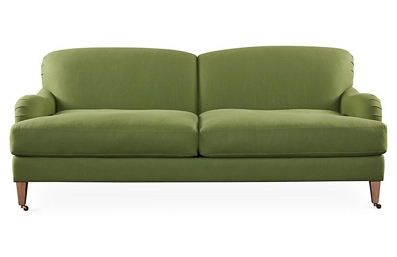 Brampton 86 Roll Arm Sofa Green Sofas Sofas