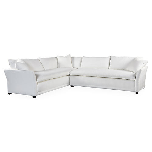 Tribeca Sectional, White Crypton