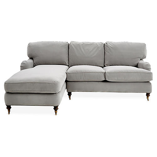 Brooke Right-Facing Sectional, Gray Crypton