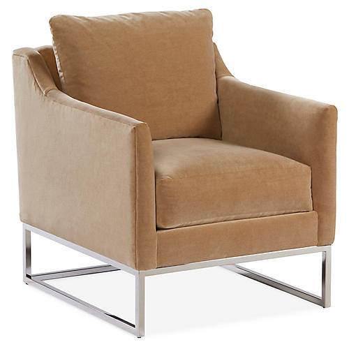 Skyler Accent Chair, Toffee