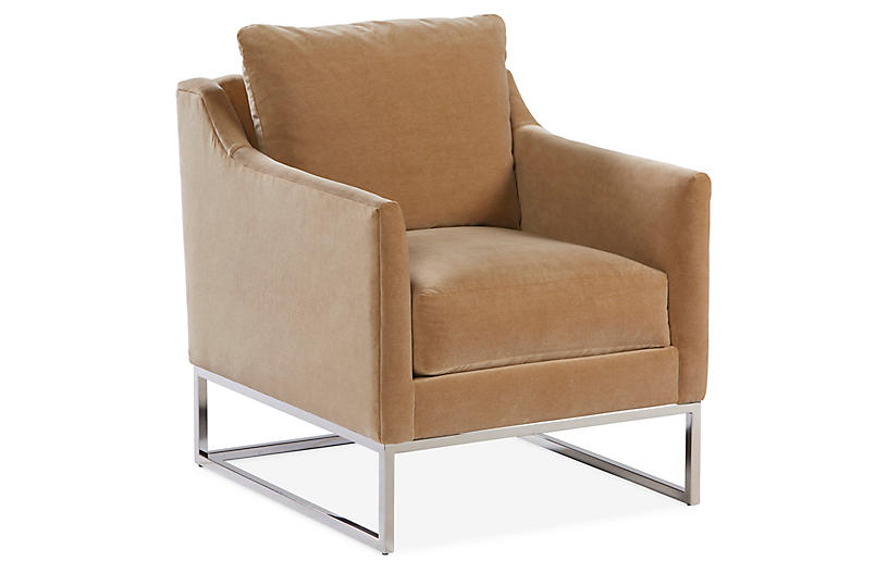 Saylor Accent Chair, Toffee