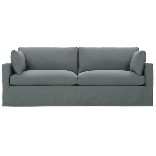 Sylvie Slipcover Sofa, Gray