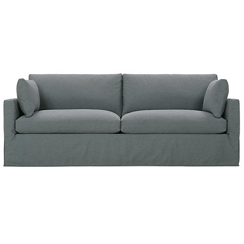 Sylvie Slipcover Sofa, Gray