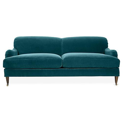 Brampton Sofa, Peacock Velvet