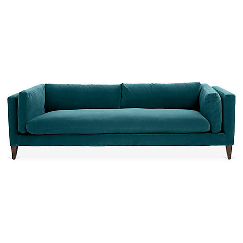 Hyde Sofa, Peacock Velvet