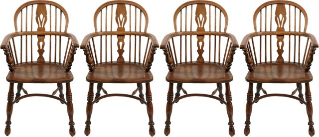 Antique Windsor Chairs, Set of 4