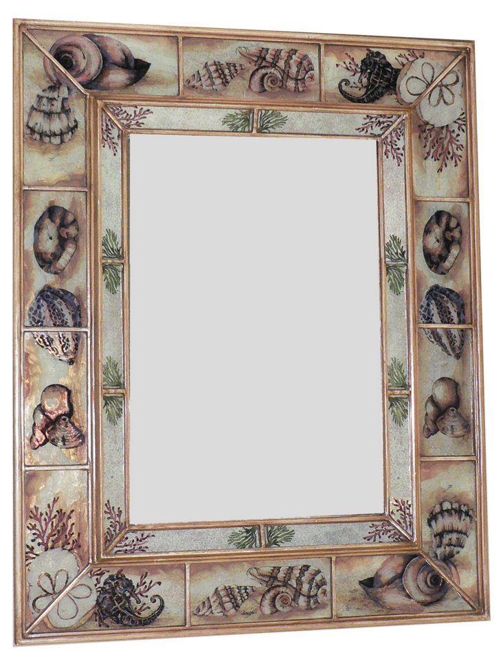 Double Framed Wall Mirror, Sand