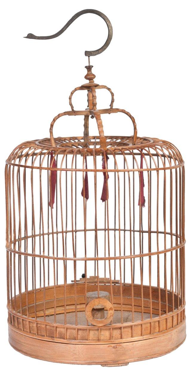 Antique Bamboo Birdcage