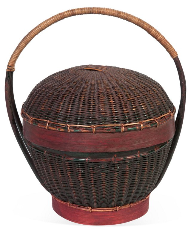 Antique Rattan Basket I