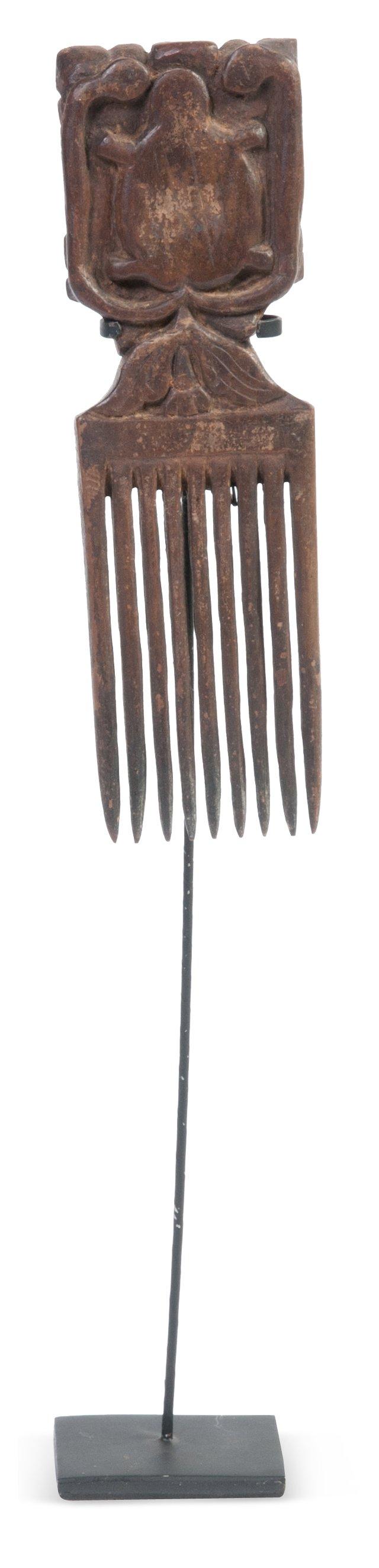 Antique Indonesian Teak Comb