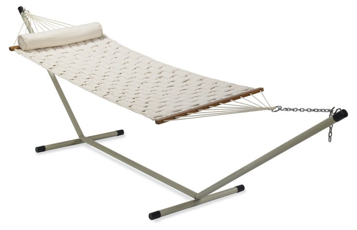 55'' Quilted Hammock, Off-White