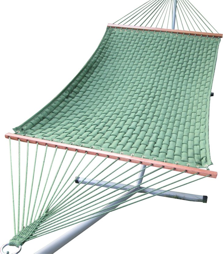 Double Quilted Hammock, Green