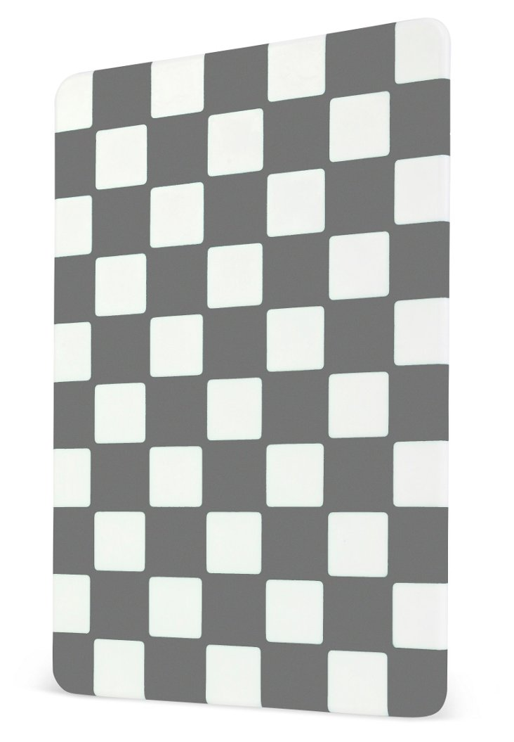 Checkered Cutting Board, Charcoal
