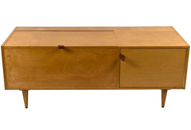 Florence Knoll Rare Birch Blanket Chest