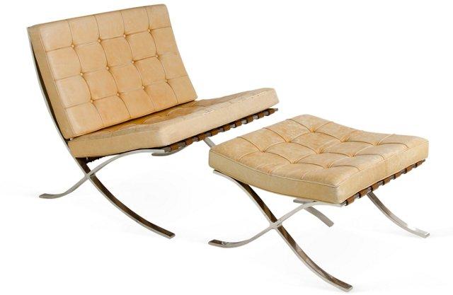 Mies van der Rohe Chair & Ottoman