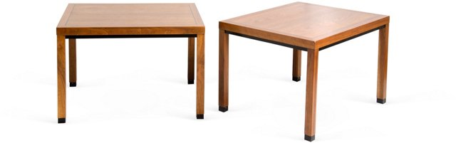 Directional Lamp Tables, Pair