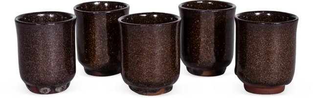Heath Ceramics Sake Cups, Set of 5