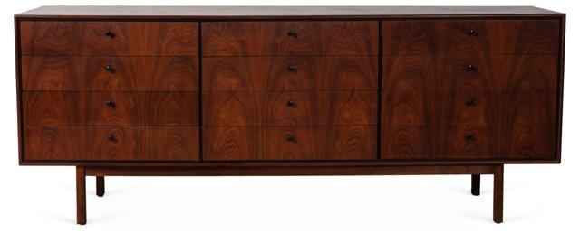 Milo Baughman 12-Drawer Dresser