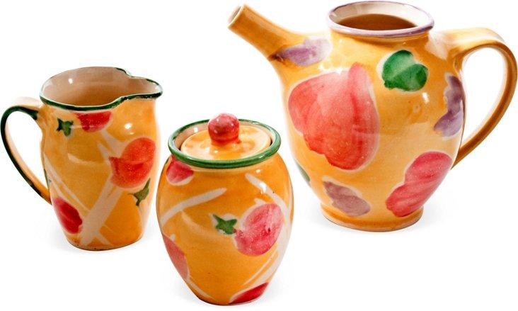 Ceramic Tea Set, 3 Pcs.